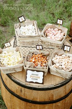 Rustic Popcorn Bar Collection  PIY by penandpaperflowers on Etsy, $20.00