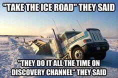 Ice Road Mishap