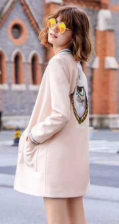 2016 autumn new jacket female spring and autumn Korean students long-sleeved shirt tide gown autumn women