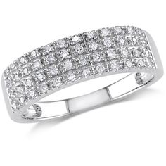 Zales 1/4 CT. T.w. Diamond Four Row Anniversary Band in Sterling Silver 1Z7zQQC