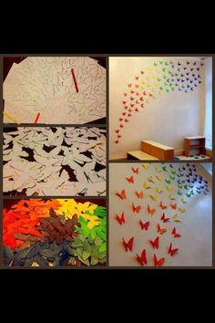 Hyggelige sommerfugle der kan pynte på væggen