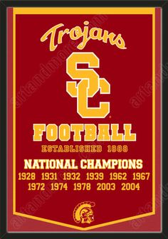 This University of Southern California dynasty banner