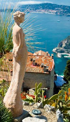 EZE, Provence-Alpes-Cote d'Azur, France - This medieval town, clinging to a cone of rock, was originally built for military defense. It is the highest of Provence's perched villages and full of alleyways and beautiful views! Places Around The World, Oh The Places You'll Go, Places To Travel, Places To Visit, Around The Worlds, Wonderful Places, Beautiful Places, Villefranche Sur Mer, South Of France