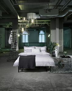 Whoa... this is an awesome way to make a basement bedroom work. Unlike mine...