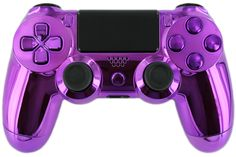 "Gimika ""Chrome Purple"" PS4 Custom Controller with Purple Chrome Buttons and D-Pad Limited Edition - Playstation 4 Controllers"