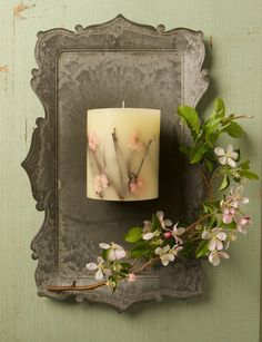 Rosy Rings Cherry Blossom Botanical Candle