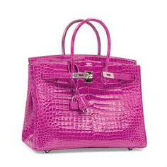 A SHINY ROSE SCHÉHÉRAZADE POROSUS CROCODILE BIRKIN 35 WITH PALLADIUM HARDWARE