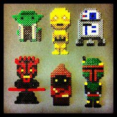Cool perler bead Star Wars people;  Instagram photo by @bigbharmon (bigbharmon)   Statigram