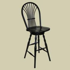Heritage Colonial Wheat Sheaf Bow Back Windsor Swivel Counter Stool
