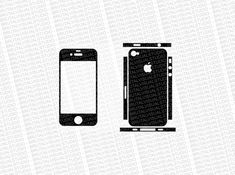 Iphone 4S - Skin Cut Template - Templates for cutting or machining - Digital Download - Plotter...