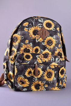 Clothes Style Hipster Bags New Ideas Cute Backpacks, School Backpacks, Awesome Backpacks, Mini Backpack, Backpack Bags, Fashion Backpack, Mini Mochila, Sunflower Print, Cute Bags