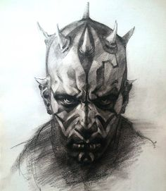 Darth Maul by Ben Oliver Star Wars Drawings, Art Drawings, Dark Maul, Arte Game Of Thrones, Ben Oliver, Star Wars Sith, Clone Wars, Star Trek, Star Wars Tattoo