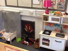 Home corner role play Play Corner, Corner House, Eyfs Classroom, Classroom Ideas, Dramatic Play, Role Play, Nursery Ideas, Teaching, Activities