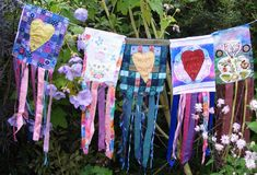 Teresa Mitchell is another member of the Global Piecers mentioned in our last post. Her flags are ready to leave Scotland and fly off...