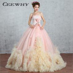 CEEWHY Bow Ruffles Ball Gown Luxury Long Evening Dress Crystal Vestido de  Festa Embroidery Formal Wedding 812b2e72ddb2
