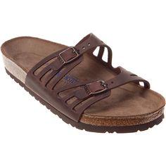 Birkenstock Women's Granada Soft Footbed Sandals ($135) ❤ liked on Polyvore