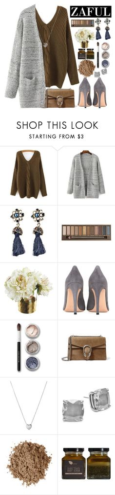 """""""ZAFUL"""" by erohina-d ❤ liked on Polyvore featuring beauty, Urban Decay, Gianvito Rossi, Bare Escentuals, Gucci, Links of London, Kate Spade, Moon Juice, AMBRE and fashionable"""