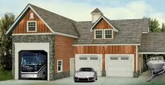 rv garage...I'd convert the two smaller garages into a little cottage for living in when not traveling.