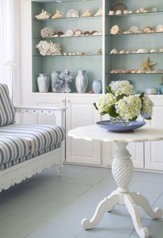 Coastal Cottages Interiors | New Home Interior Design: Breezy in blue: f beach cottage