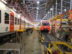 Taller de mantenimiento de los Ferrocarriles de la Generalitat (FGC)