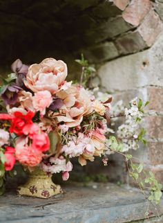 Floral styling by The Garden Gate Flower Company - image by Taylor & Porter Fine Art Film Photography for Lost Gardens Collaboration.