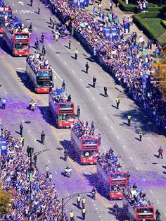 Near Grant Park// Cubs World Series victory parade in Chicago,Nov 4,2016
