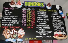 Ice Cream shop menu board by Character & Co. by karin-b, via Flickr