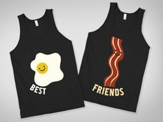 Best Friends....@karen would you wear this with me? You can be eggs since that doesn't look like turkey bacon