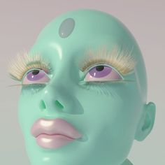 I made this as a reference to a painting I never made Visit pastelae.com and look #3Dart #daz3d #cinema4d #faces Futuristic Art, Cybergoth, Retro Aesthetic, Art Direction, Color Inspiration, Art Inspo, Cool Art, Weird, Illustration Art
