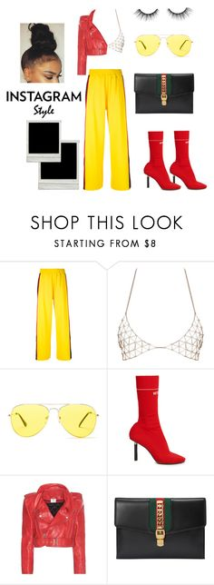 """""""Flick Flick"""" by mani-stylez on Polyvore featuring Facetasm, Sunny Rebel, Vetements, Gucci and tarte"""