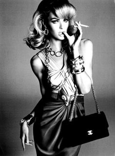 chanel clothing | black and white, chanel, fashion, girl, model - inspiring picture on ...