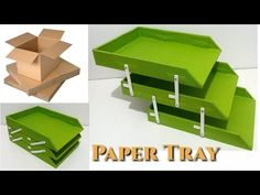 DIY How to make a drawer organizer using the small pieces of recycled cardboard and paper HD Diy Makeup Organizer Cardboard, Paper Tray Organizer, Diy Desktop Organizer, Cardboard Storage, Cardboard Box Crafts, Desk Organization Diy, Cardboard Paper, Diy Paper, Paper Crafts
