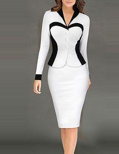 394b0980cb   7.50  Mulheres Trabalho Moda de Rua Tubinho Vestido - Patchwork