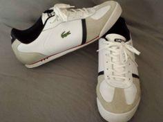 3c83b8837 MEN S LACOSTE SPORT ALERON SPM FASHIONS SNEAKERS SHOES SIZE 11 US WHITE Lacoste  Shoes