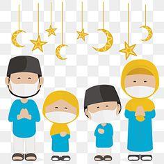 Eid Al Fitr Greeting, Eid Mubarak Greetings, Man Clipart, Family Clipart, Happy Birthday Greeting Card, Christmas Greeting Cards, Family Illustration, Cute Illustration, Eid Mubarak Animation