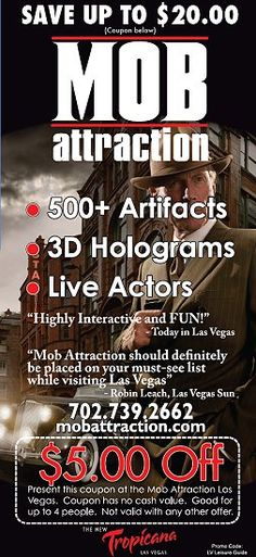$5 Off mob attraction