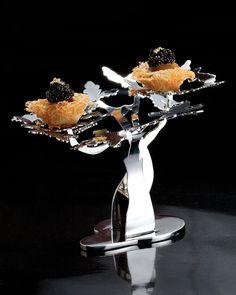 Caviar bird nests at Bo Innovation in Hong Kong.