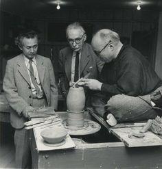 Koie Ryoji, Bernard Leach and Shoji Hamada.