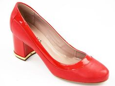 LACEYS WOMENS RETRO CLASSIC COURT SHOES RED