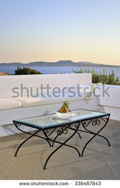 Table and island - stock photo