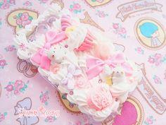 Kawaii Pastel Decoden case (Molang Bunny ^^~)