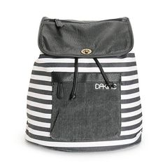 Dakine Sophia Black & White Stripe Rucksack Backpack
