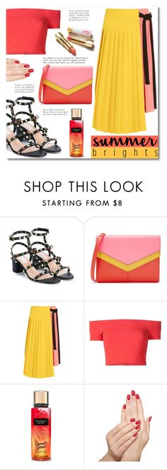 """Sweet wrap"" by alialeola ❤ liked on Polyvore featuring Valentino, Tory Burch, Marni, Alice + Olivia, Piggy Paint and summerbrights"