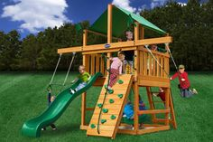 Wooden play tower with slide and swings pretty Ninja Warrior Course, Jungle Gym, Backyard Playground, Girls World, Play Houses, Diy For Kids, Kids Playing, Shed, Projects