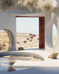 Outdoor Restaurant Design, Arabian Decor, 3d Architecture, Design Art, Interior Design, Beautiful Places, Exterior, House, Interior Presentation