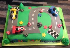 Racing - Birthday Cake for a 5 year old 5 Year Olds, Some Pictures, Birthday Cake, Racing, Running, Birthday Cakes, Auto Racing, Cake Birthday