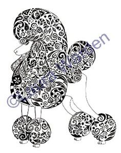 Zentangle poodle
