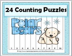 Polar BearsPolar Bears Counting Puzzles This file contains 24 Counting Puzzles with numbers ranging from 1-120. Each puzzle is a full page.Counting is done by 1s, 10s, 5s, and 2s.All you need to do is print, laminate, and cut the strips. Each card is divided into 10 strips.