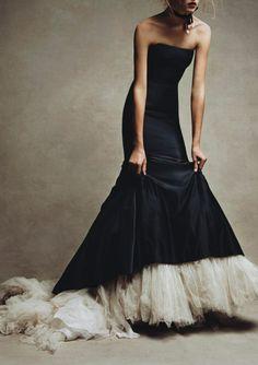 Fashion, Style, Mode, Kleidung, Schwarz, Weiß, Abendkleid, Robe
