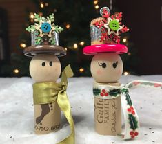 Excited to share the latest addition to my #etsy shop: Snowmen Wine Cork Ornaments #snowman #ornaments #winegifts